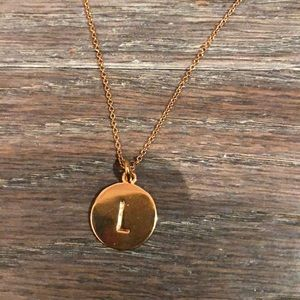 Kate Spade gold pendant initial 'L' necklace